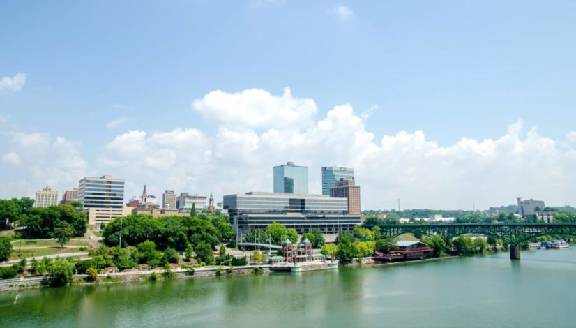 river front view of downtown knoxville tn